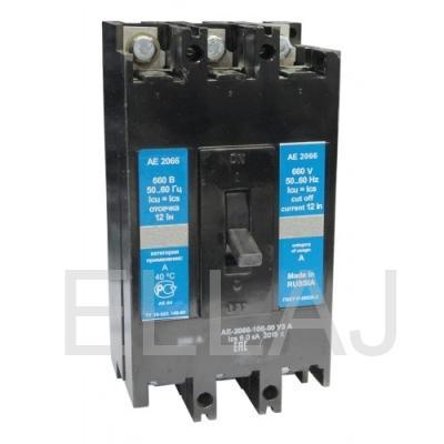 Выключатель автоматический: АЕ 2066-100-00 УЗА 80А