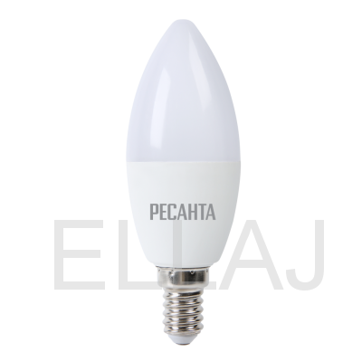 Лампа светодиодная РЕСАНТА  LL-R-C37-7W-230-4K-E14