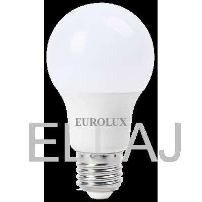 Лампа светодиодная EUROLUX  LL-E-A60-9W-230-4K-E27