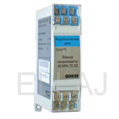 ИСКРА-АТ.02 – барьер искрозащиты для датчиков с выходным сигналом тока 0...5 мА, 0(4)...20 мА