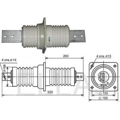 Изолятор ИП-10/1000-7.5 УХЛ2 проходной