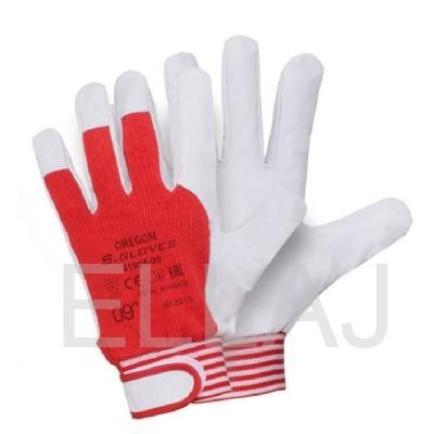 Перчатки кожаные комбинированные: (манжет на липучке)