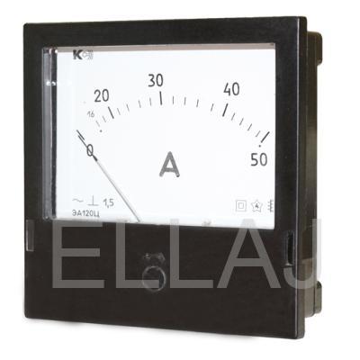 Амперметр ЭА120Ц 50/5А через тр-р тока 5А