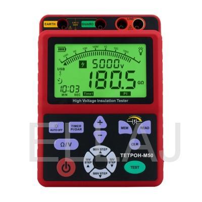 ТЕТРОН-М50 Мегаомметр цифровой 5000 Вольт 1000 ГОм